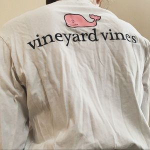 Vineyard Vines Tops - white vineyard vines long sleeve top